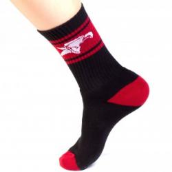 CHAUSSETTES ANIMAL CREW SOCKS (HIGH) BLACK/RED - image 1